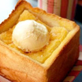 お家deハニートースト☆アイスのせ♪