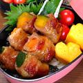 夏野菜の串焼きです☆くるりと巻いてジュッと焼くだけ