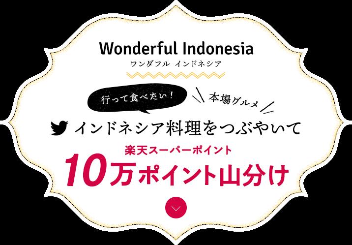 ワンダフルインドネシア 行って食べたい本場グルメ インドネシア料理をつぶやいて10万ポイント山分け