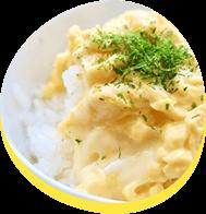 チーズ&たまご☆Wでトロトロ♪のっけごはん