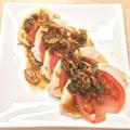 ゆで鶏とトマトの前菜